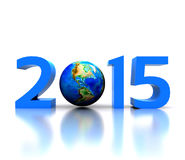 New year 2015. Worldwide  celebrates the New Year - 2015 Stock Photos