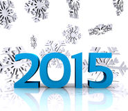 New year 2015. Here comes the new year ... 2015 - 3D Stock Image