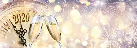 Free New Year 2020 - Countdown And Toast With Champagne Stock Photos - 160286833