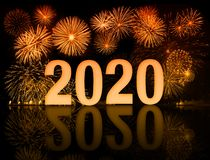 New Year 2020 Fireworks Stock Image