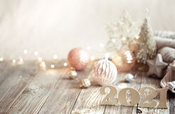 Free New Year 2021 Holiday Background With New Year Decor Stock Image - 197595721