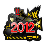 New year. Symbols represent the new year vector illustration
