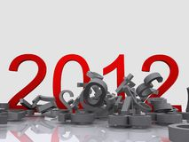 New year. A 3d illustration for new year eve Royalty Free Stock Images