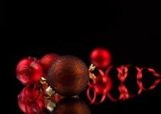 New year. Christmas Decoration isolated on black Stock Photo