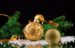 New year. Christmas Decoration isolated on black Stock Image