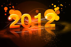 New year. 2012 background with stars Stock Image