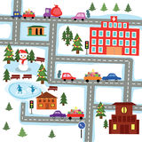 Before New Year. The image of a winter city before new year Stock Photo