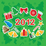 New year. Vector Illustration of Christmas Icons Vector Illustration