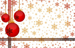 New year. Christmas background with snowflakes and place for your text Stock Image