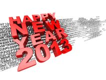 New Year. 3d text happy new year 2013 isolated on white background stock illustration