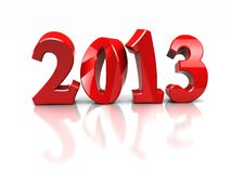 New year. Red number of new year -2013 on white background vector illustration