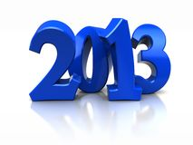 New year. Blue number of new year -2013 isolated on white background stock illustration
