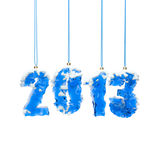 New year. 2013. Isolated on white background Royalty Free Stock Photos