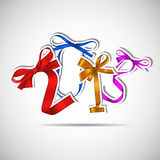 New year. 2013 colorful ribbons greeting card stock illustration