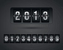 New Year. Icons over gray background vector illustration Royalty Free Illustration