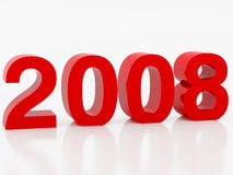 New year. High resolution image new-year. Work patch from selection.  3d illustration over white backgrounds Stock Image