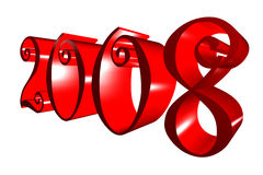 New year. 3d rendering of New Year date Stock Photography
