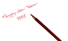 New year. Written by red pencil stock illustration