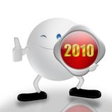 New Year and 3d character Stock Photo