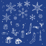 New Year. And Christmas Design Elements Stock Photo