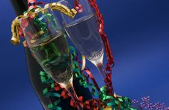 New Year. Elabration and drink Royalty Free Stock Image