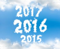 New year 2016. New year 2015 2016 2017 Stock Photos