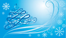 New year. Card of horizontal format to Christmas and New year Stock Photography