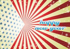New Year. A fully scalable vector illustration of fiag of USA with Happy New Year Stock Images