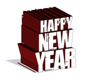 New year. 3d creation in adobe royalty free illustration