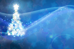 New Year abstract background. With stars and sparkling flashes royalty free illustration