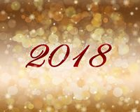 2018 New Year abstract background. 2018 New Year abstract background with bokeh, snowflake and sparkle royalty free illustration