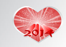 2014 new year. Abstract background in 10 EPS Royalty Free Stock Photos