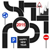 New Year 2015. Abstract Background - Happy New Year 2015 Royalty Free Stock Photography