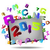 New Year 2015. Abstract Background - Happy New Year 2015 royalty free illustration