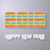 2015 New year abstract background. Layered paper style Royalty Free Illustration