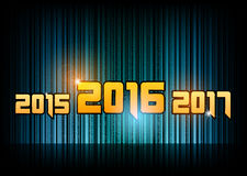 New year 2016. Abstract background with numbers. Vector symbol Royalty Free Stock Photo