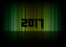 New year 2017. Abstract background with numbers. Vector symbol Stock Images