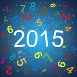 2015 New year abstract background. Stock Images