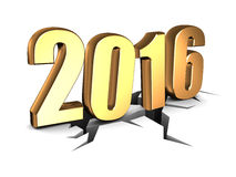 2016 new year. Abstract 3d illustration of 2016 year sign Stock Image