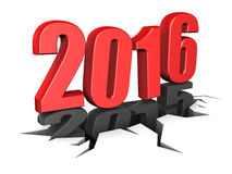 New year. Abstract 3d illustration of new 2016 year sign, over white background Royalty Free Stock Photography