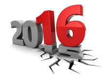 New year. Abstract 3d illustration of year 2015 to 2016 change concept Royalty Free Stock Image