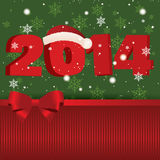 New year. Abstract happy new year 2014 on special green and red background vector illustration