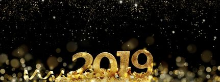 2019 new year in abstract night royalty free stock photography