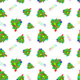 New Year 2015 Abstract seamless pattern background. The seamless new year`s patterns on a white background Royalty Free Stock Photography