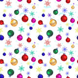 New Year 2015 Abstract seamless pattern background. The seamless new year`s patterns on a white background Stock Photos
