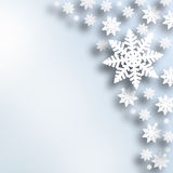 New Year abstract snowflake illustration background Royalty Free Stock Image