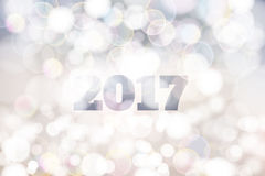 New Year 2017 abstract sparkling white background. On coming modern style banner Royalty Free Stock Photo