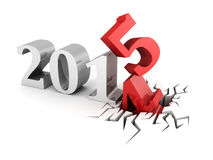 New year 2015 abstract text numbers. 3d render illustration Stock Photography