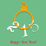 2015 New Year. Abstract vector illustration of 2015 New Year greeting card Stock Illustration