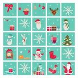 New year advent calendar, Santa Claus royalty free illustration